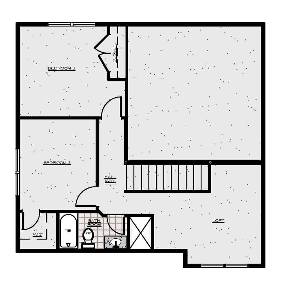 Belford Rendering Second Floor